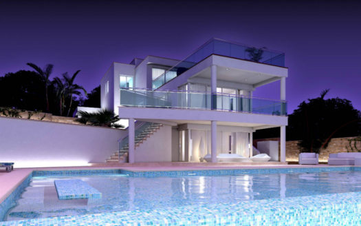 Modern villa for sale in Benissa with magnificent sea views
